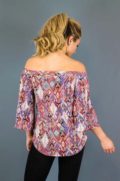 Mercedes Off The Shoulder Stretch Top