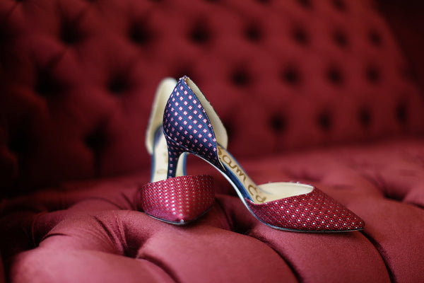 Sam Edelman - Telsa Heel - Red/Blue Geo Print