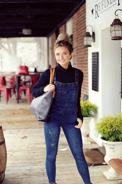Dark Denim Overalls