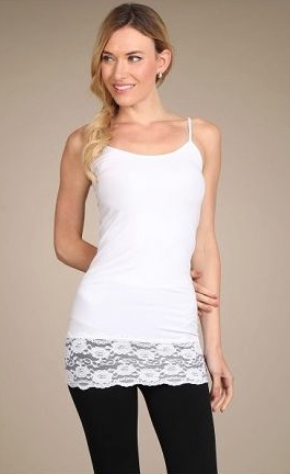 Cami Dress With Lace Trim