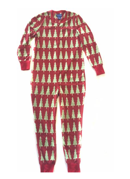 Holiday Trees Plush Fleece Onesie