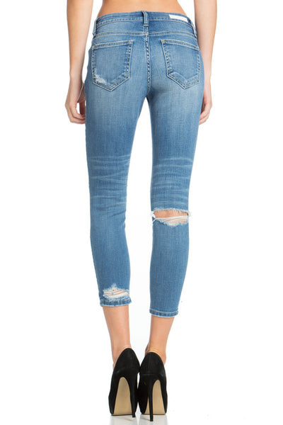Cello - Distressed Ankle Cropped Skinny