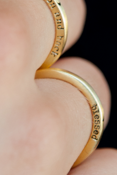 Blessed Secret Message Ring - Gold