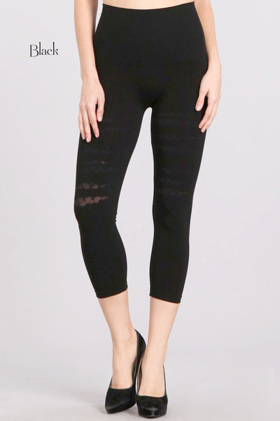 Crosshatch Burnout Cropped Leggings