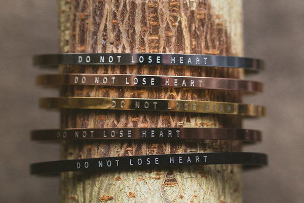 Do Not Lose Heart Thin Cuff Bracelet