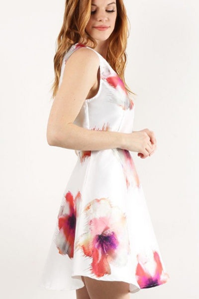 Sleeveless Floral Fit and Flare