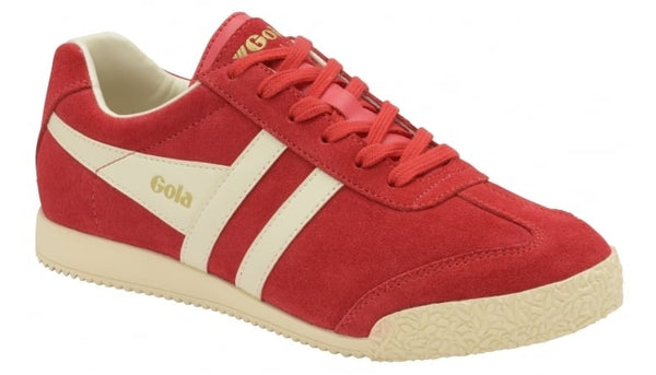 Gola - Classics Women's Harrier Suede Trainer - Red/Off White