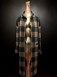 Collared Plaid Jacket With Pocket