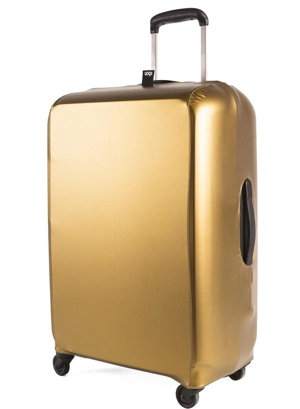 METALLIC Gold Luggage Cover