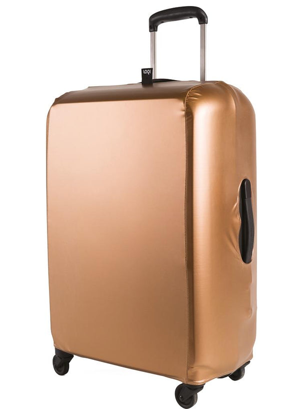 METALLIC Rose Gold Luggage Cover