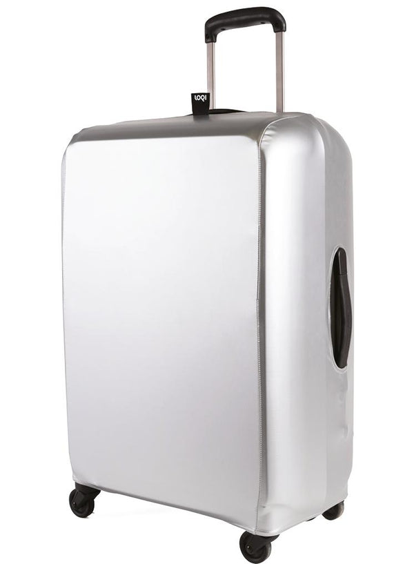 METALLIC Silver Luggage Cover