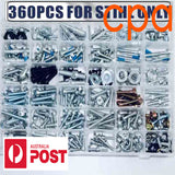 360 Piece Screws Bolts Nuts Clips- for STIHL chainsaws etc.