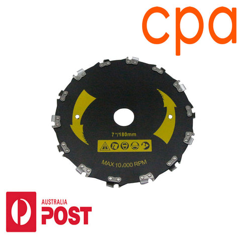 Brush Cutter Blade  Chainsaw Teeth 25.4mm Centre Hole 180mm Diameter