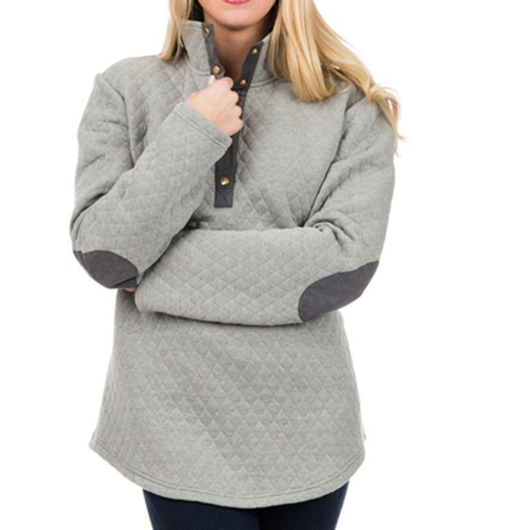 Top It Off - Harley Pullover Gray