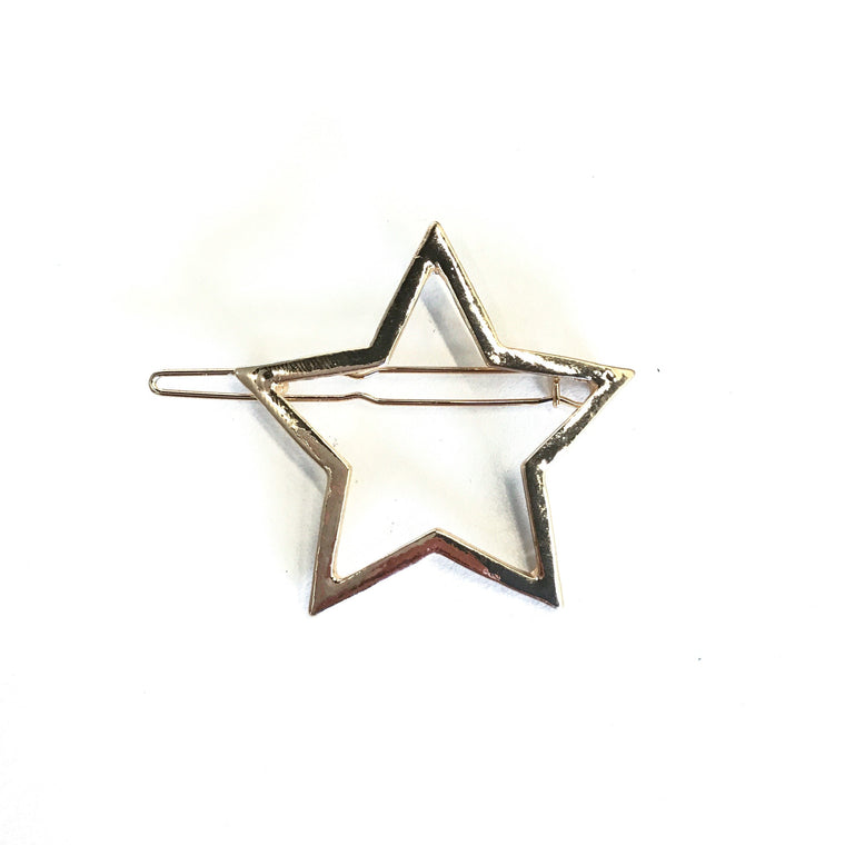 Lucky Charms Gold Star Barrette