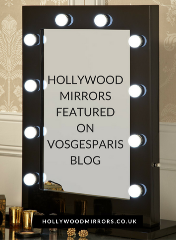 Click here to see the Black Gloss Hollywood Mirror on the Vosgesparis Blog Hollywood Mirror Makeup Mirror with Lights Dressing Table Mirror with Lights Vanity Mirror with Lights Illuminated Makeup Mirror Holllywood Mirror UK