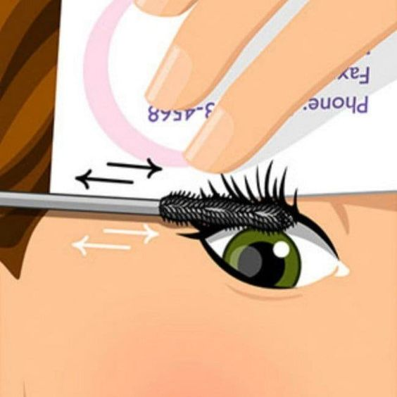eyelashes with Business Card Trick