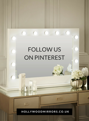 Follow us Pinterest for make up tips & tutorials, make up storage ideas & more Hollywood Mirror Makeup Mirror with Lights Dressing Table Mirror with Lights Vanity Mirror with Lights Illuminated Makeup Mirror Holllywood Mirror UK Light Up Makeup