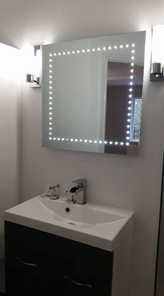 Abby illuminated bathroom mirror