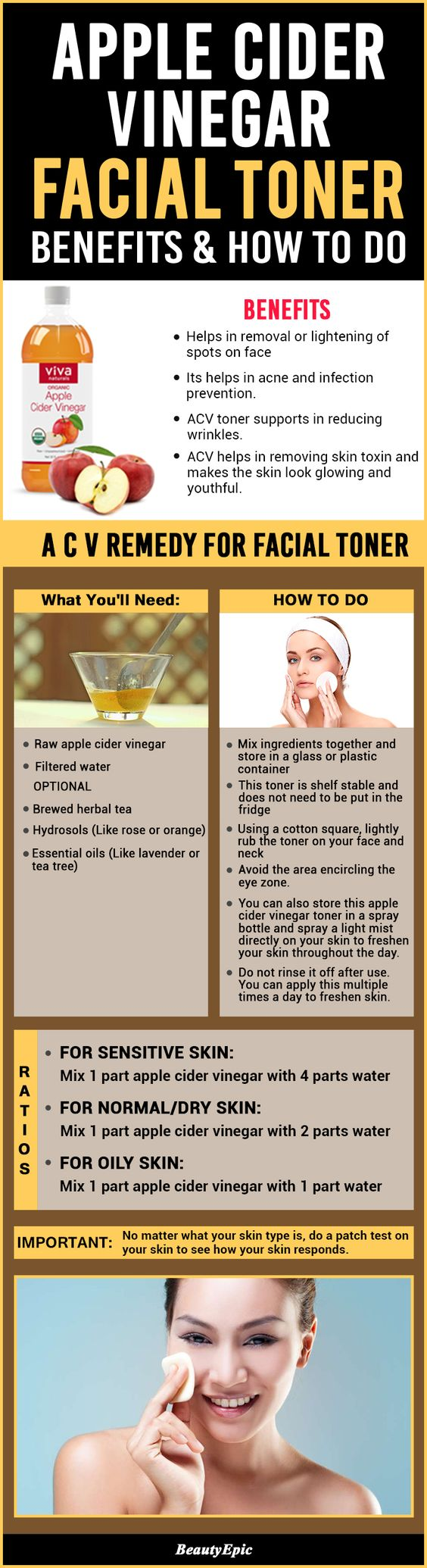 apple cider vinegar as facial toner