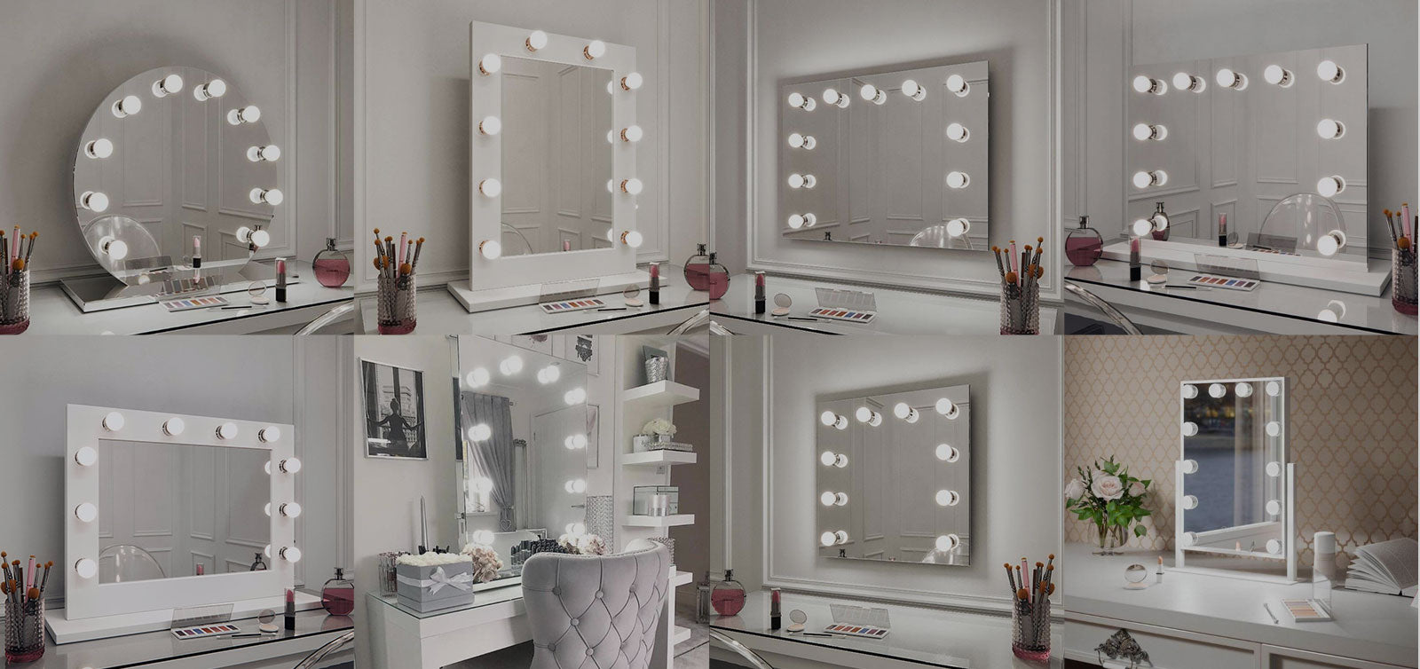 vanity with light bulbs