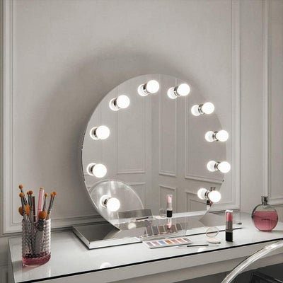 round light up mirror for dressing room
