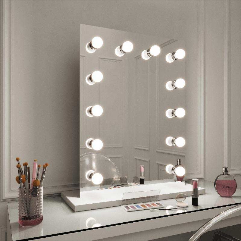 Alicia Hollywood Style Mirror with Lights 80 x 60cm