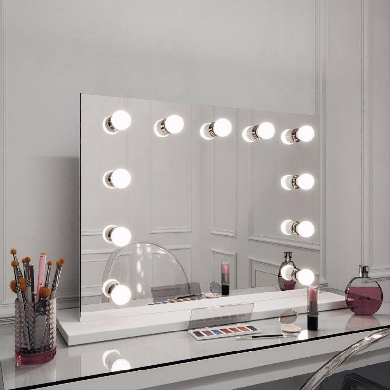 PRE ORDER - Hepburn Hollywood Style Mirror with Lights -  Landscape 60 x 80cm