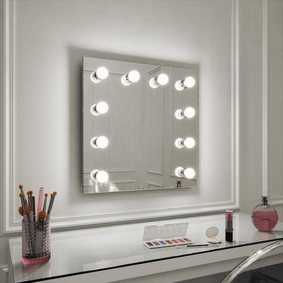 Meryl Hollywood Mirror Wall Mounted 60 x 60cm