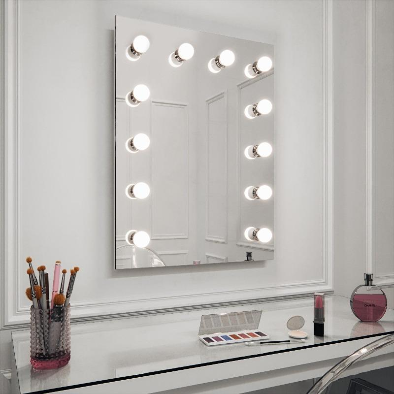 Monroe Hollywood Mirror Wall Mounted 80 x 60cm
