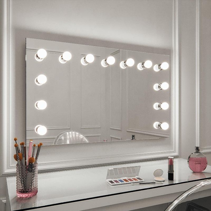 Dressing Table Mirror With Lights You Ll Love Hollywood Mirrors