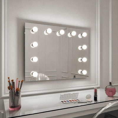 Penelope vanity room mirror wall mounted with lights