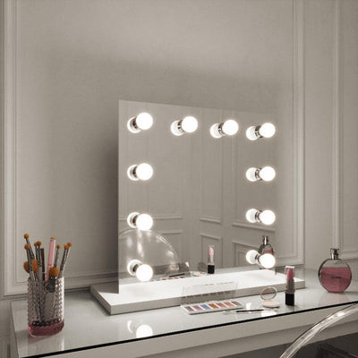 PRE ORDER Rihanna White Edge Hollywood Mirror 60 x 60cm