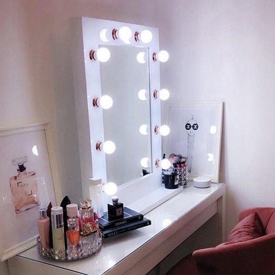 Jennifer Hollywood Mirror White Gloss & Rose Gold 80 X 60cm