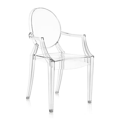 Kartell Louis Ghost Chair by Philippe Starck in Crystal Clear