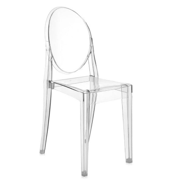 kartell victoria ghost chair in crystal clear