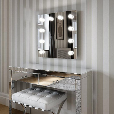 Meryl Hollywood Mirror Wall Mounted 60 x 60cm - hollywood mirrors