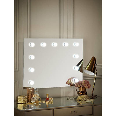 Penelope Hollywood Mirror WITH light Bulbs Wall Mounted Landscape