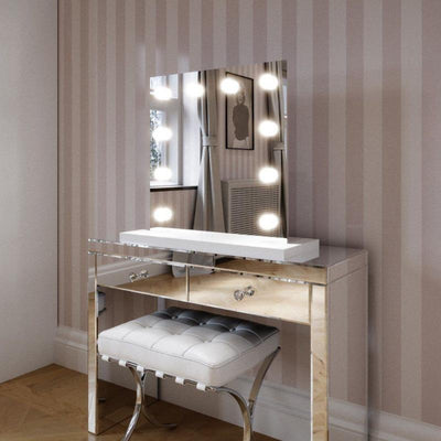 Mirrors - Rihanna White Edge Hollywood Mirror 60 X 60cm