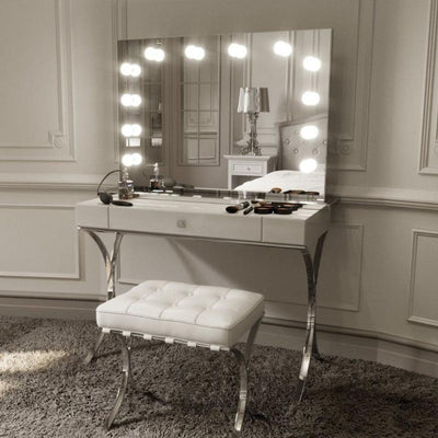 Scarlett Large Hollywood Mirror with Lights Around it - hollywood mirrors