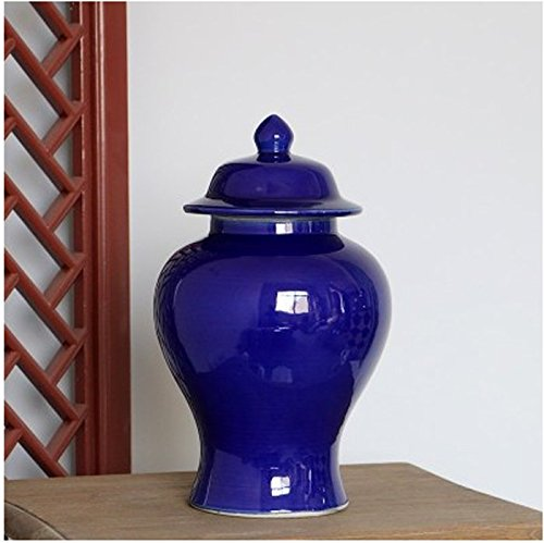 Deep Blue Ocean Color Ceramic Vase