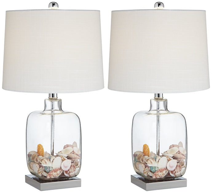Fillable Coastal Lamps Duo
