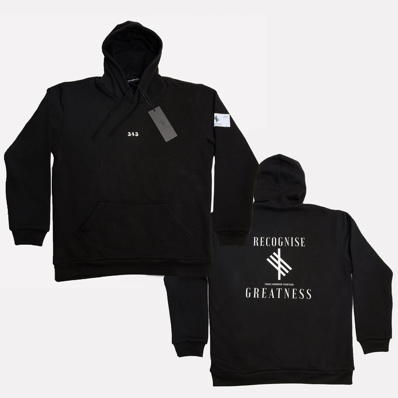Recognise Greatness - Oversized Heavy Hoody - Black