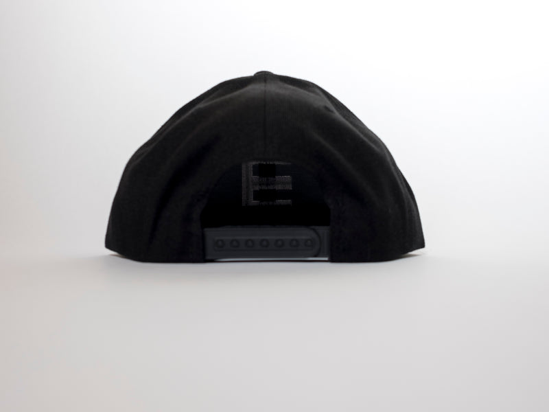 3 3D Black Flatpeak Snapback