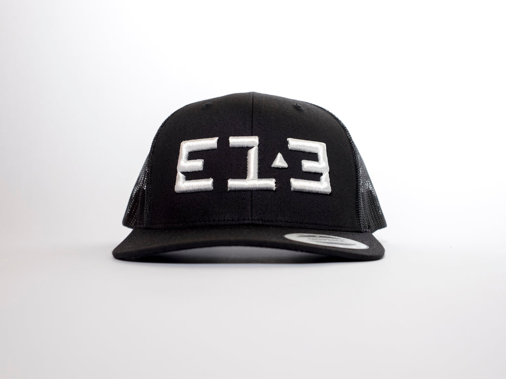 313 DIAMOND 3D Trucker Black Mesh Snapback
