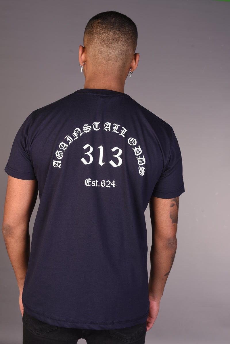 Against All Odds T Shirt - Navy