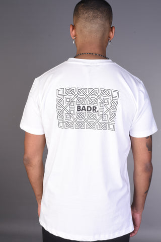 BADR T Shirt- Black with Red Print