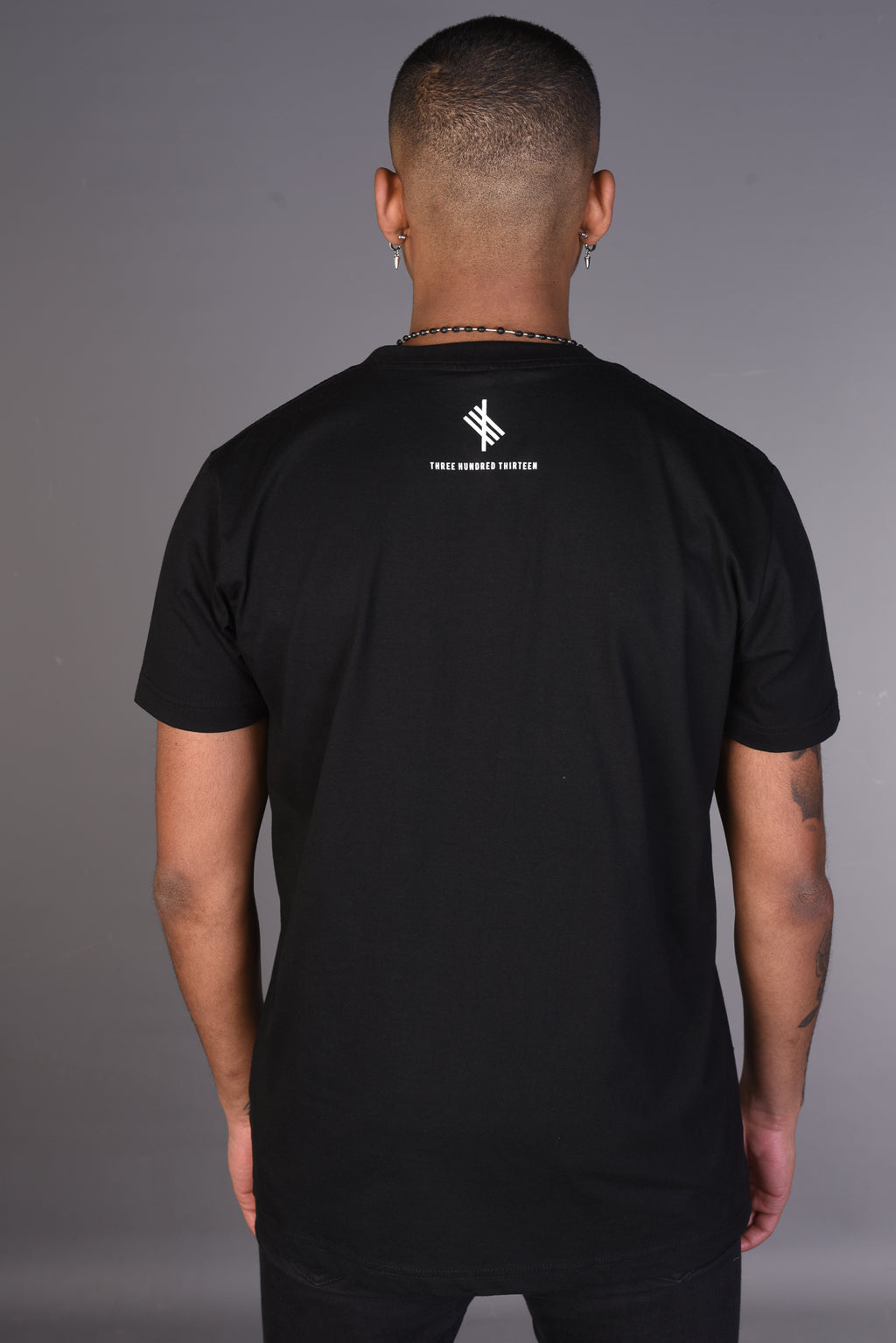 BADR T Shirt- Black with White Print