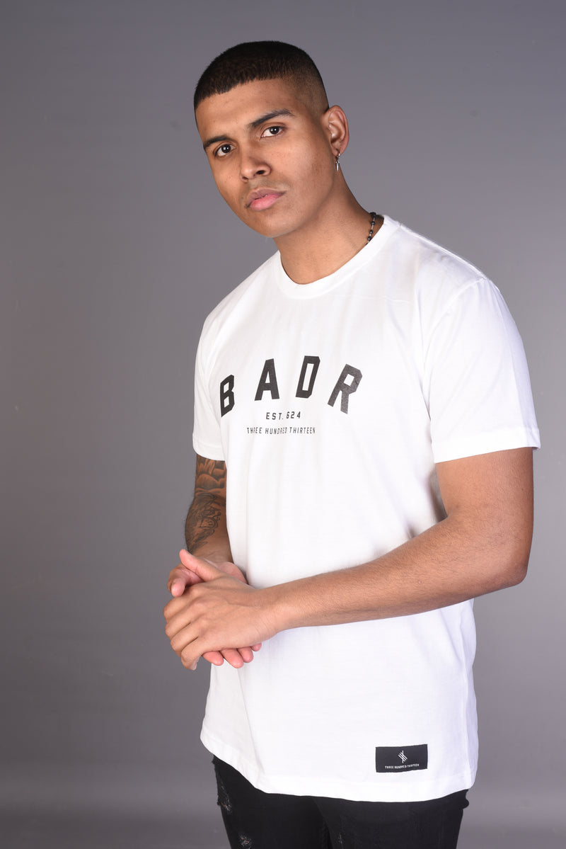 BADR By Any Means Necessary T Shirt- White