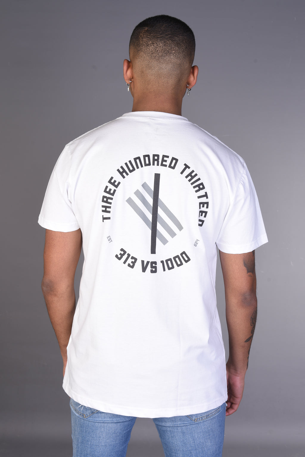 313 vs 1000 Symbolic Logo T Shirt - White